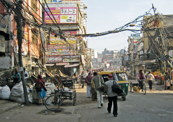squalor of old Delhi