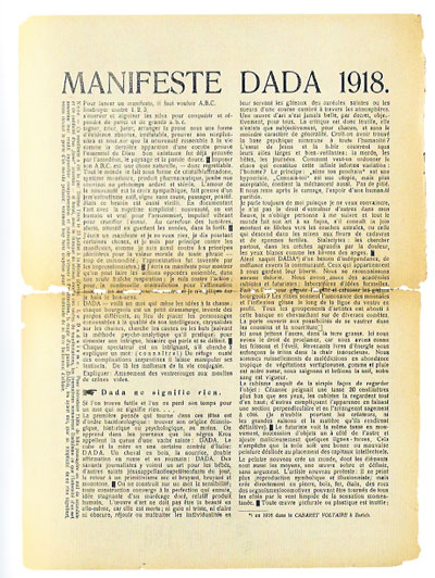 about dadaism essay Dada or dadaism was an art movement of the european avant-garde in the early  20th century,  in the arts: informal chapters on painters, vaudeville and poets  marsden hartley included an essay on the importance of being 'dada'.