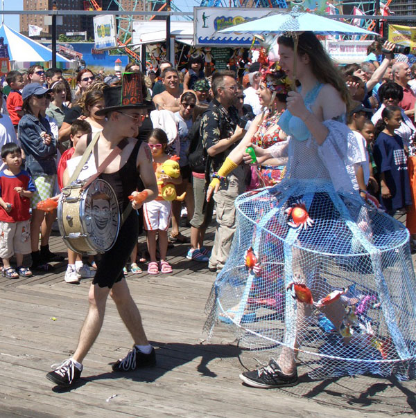 Drummer Boy and Hoop Fishnet Skirt