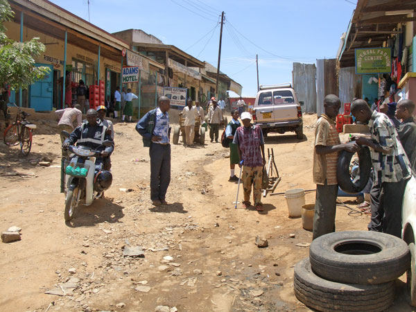 fixing a flat in Mwingi