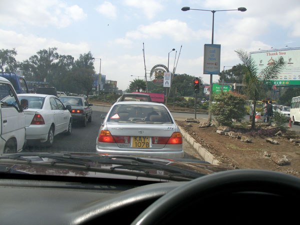 Driving through Nairobi
