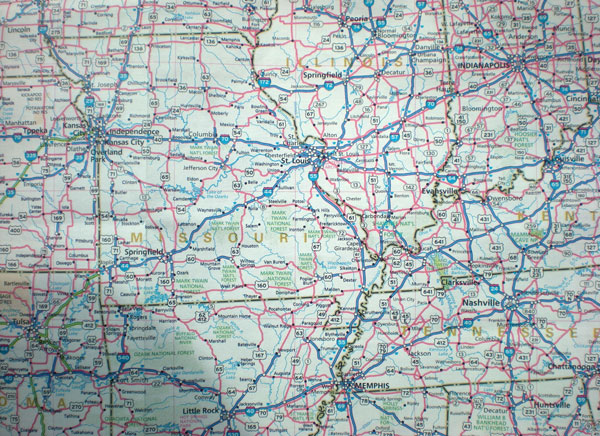 Road Map Of New Mexico And Texas