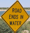 road ends in water