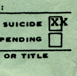 suicide check box